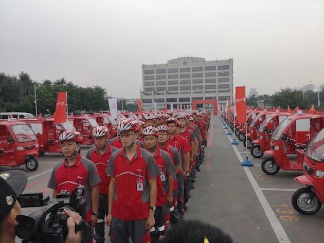 热烈祝贺富路集团一万辆京东物流车交车仪式圆满成功!