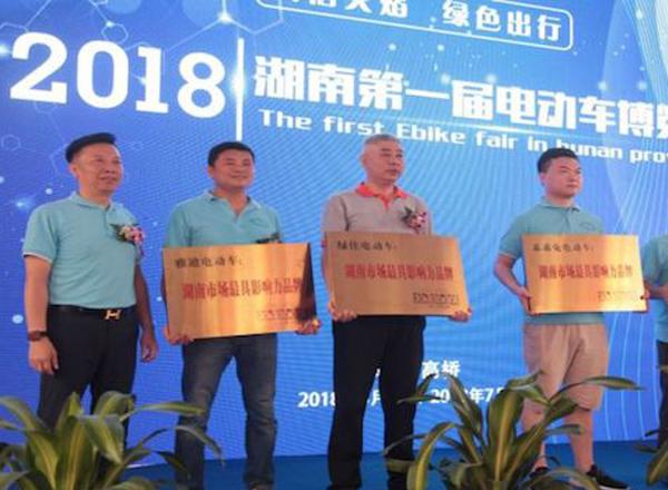 诚信火焰,绿色出行 湖南首届电动车博览会在长沙隆重开幕